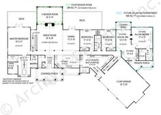 Pepperwood In-law suite Ranch House Plan - First Floor. Very nice...elevation needs a major overhaul
