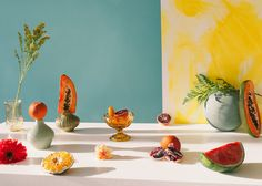 <p>Exploring the use of everyday objects, fruits and vegetables, the Montreal based photographer Melissa Gamache shot this beautiful still life series titled 'Arrangements'. Very impressive for such a visual result with just simple objects and colorful backgrounds! www.melissagamache.com</p>