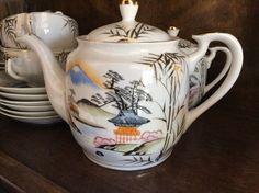 Tea Set, Teapot, Cups and Saucers