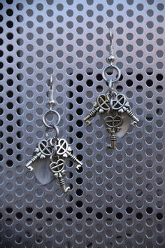 Key scalemail earrings. My selfmade chainmail is also on facebook @ Ivy's Scale Mail