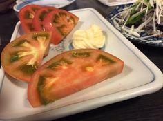焼鳥センターのトマトスライス