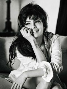 Indian actress Priyanka Chopra poses for photographer Bryan Adams in the latest Guess campaign.