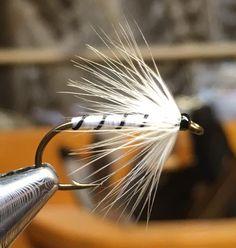 White Hackle from Bergman's Plate No. By Roy-Tore Gjertsen Trout Fishing, Fishing Lures, Fly Fishing, Fishing Stuff, Crappie Jigs, Kenai River, Steelhead Flies, Alaska Fishing, Fly Tying Patterns
