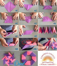 Step by step 8 point origami ninja star!