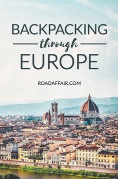 Backpacking through Europe Pinterest Pin