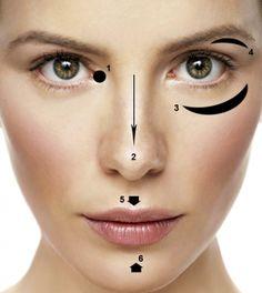 Trucos de maquillaje para nariz ancha