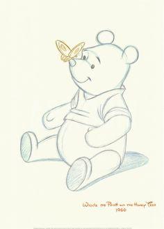 Pooh Bear Makes a Friend Art Print at eu.art.com