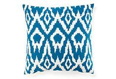 Ikat 20x20 Pillow, Teal  Divine Designs (one kings lane)