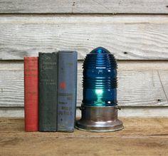 Vintage Runway Light Table Lamp - Industrial Desk Lamp by AuroraMills, $125.00