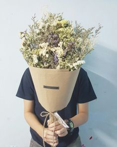 ช่อดอกไม้แห้งเก๋ๆ