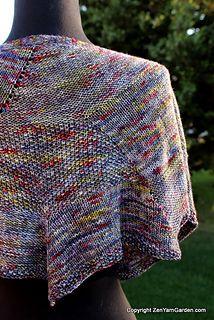 Blue Whale Shawl, knit in  Zen Yarn Garden Serenity 20