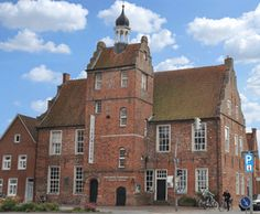 Das Alte Rathaus in Norden. Tea Museum in Norden, East Frisia.