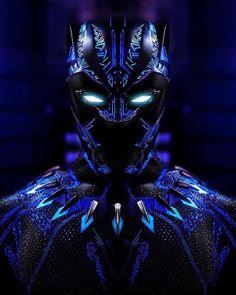 Amazing anime superheroes Black Panther Photography