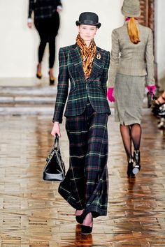 I am in love with this Ralph Lauren Downton Abbey's Plaid look.