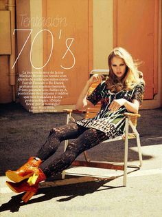 """Temptation 70's"" Marloes Horst by Hilary Walsh for Glamour Spain April 2015"