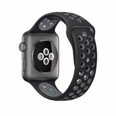 CingoTek Sport Armband Nike passend für Apple Watch 1 2 3 Schwarz /Grau M/L Apple Watch 42mm, Apple Watch Series 3, Apple Watch Nike, Apple Watch Bands, Apple Band, Smartwatch, Sport Watches, Watches For Men, Women's Watches