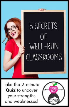 5 Secrets of Well-Run Classrooms Stressed about classroom management? Learn the 5 secrets of well-run classrooms! Plus, take the quiz and make a plan for positive action! Effective Classroom Management, Classroom Management Strategies, Behavior Management, Class Management, First Year Teachers, New Teachers, Teacher Education, Elementary Education, Middle School Classroom