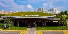 Junk food chic. Well they do sell salads:). Newest High-Design McDonald's Has a Rolling Green Roof
