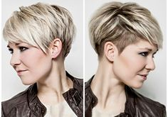 I wonder if I could pull this off - Thin Hair Cuts Oval Face Hairstyles, Haircuts For Fine Hair, Funky Hairstyles, Short Hairstyles For Women, Pixie Haircuts, Short Blonde Pixie Cut, Thin Hair Cuts, Short Hair Styles Easy, My Hairstyle