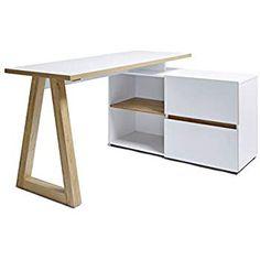 Movian Stanberg Scandinavian Design corner desk with 2 drawers 140x110 cm: Amazon.co.uk: Kitchen & Home Scandinavian Design, Computer Workstation, Writing Table, Storage Compartments, Home Office Desks, White Oak, Corner Desk, Modern Design