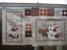 Scandinavian Christmas block 1 and block 2 together
