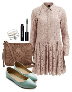 """Ophelia"" by deliag ❤ liked on Polyvore featuring VILA, T-shirt & Jeans, Ollio, Accessorize and Bobbi Brown Cosmetics"