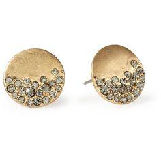 Kenneth Cole New York Urban Glitz Diamond Stud Earrings found on Polyvore