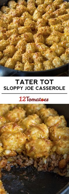 Tater Tot Sloppy Joe Casserole (recipes using hamburger tater tot casserole) Casserole Dishes, Casserole Recipes, Meat Recipes, Cooking Recipes, Recipies, Casserole Ideas, Yummy Recipes, Chicken Recipes, Dinner Recipes