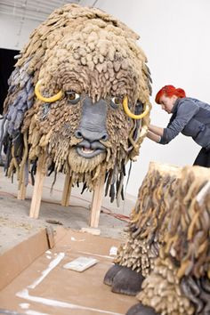 Natural fibers were used to create Bjork's life size yak for her music video Wanderlust