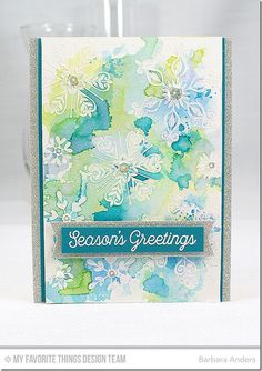 Handmade card from Barbara Anders featuring Snowflake Sparkle Card Kit Snowflake Sparkle Simply snowflakes Chrismas Cards, Xmas Cards, Holiday Cards, Fall Cards, Winter Cards, Stampin Up Weihnachten, Snowflake Cards, Snowflakes, Beautiful Handmade Cards