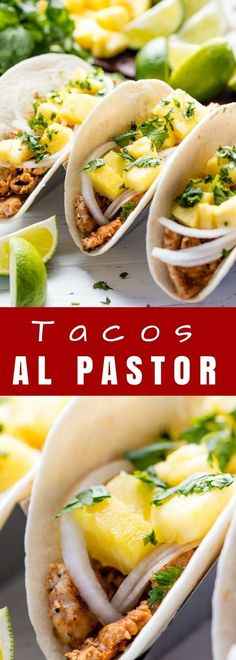 Tacos Al Pastor are thinly sliced pieces of marinated pork that make for the best taco. Serve them up with some sliced onion, pineapple, and cilantro and you have yourself a fantastic dinner your family will devour. #ad