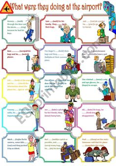 THE CHILDREN ARE ASKED TO FILL IN THE SPACES WITH THE GIVEN VERBS IN THE PAST CONTINUOUS. English Class, English Grammar, Learn English, English Language, Interactive Activities, Teaching Activities, Teaching Tools, English Teaching Materials, Teaching English