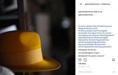 Gabriela Dumitran - Fedoara Hat - Yellow