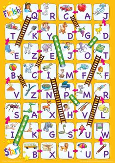 Uppercase Alphabet Chutes & Ladders Game - Super Simple - Pre K - vorschule Fun Learning Games, Letter Activities, Preschool Learning, Literacy Activities, Activities For Kids, Teaching Resources, Letter Identification Activities, Abc Games, English Activities