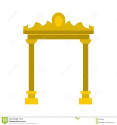 Golden Antique Arch Icon, Flat Style - Download From Over 65 Million High Quality Stock Photos, Images, Vectors. Sign up for FREE today. Image: 82485918