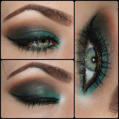 Green & Brown Smokey Eye love it