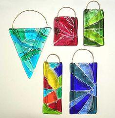 fused glass mosaics vase