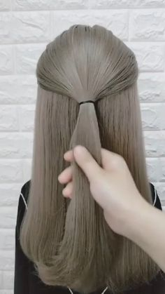 Hairdo For Long Hair, Easy Hairstyles For Long Hair, Girl Hairstyles, Hairdos, Hair Tutorials For Medium Hair, Hair Videos, Food Videos, Girl Hair Dos, Hair Up Styles