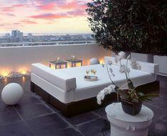 diseo terraza moderna luces led