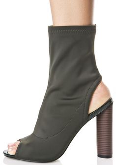 350c7d0b5293 Olive Axis Cut-Out Booties