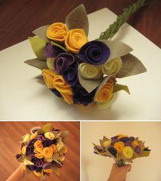 Buquê de flores de feltro by comofaz, via Flickr