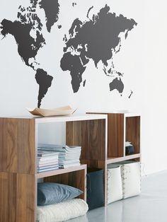 Naklejka na ścianę - Mapa Świata