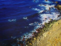 TITLE ~ ultramarine coast | cobalt blue Pacific Ocean crashes against rugged and rocky minimalist northern California landscape.