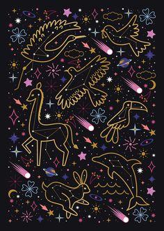 Carly Watts Illustration: Animal Constellations