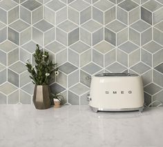 Add modern dimension to your kitchen or bathroom with our diamond shaped backsplash tiles. These handmade ceramic rhomboid tiles feel fresh and chic. Geometric Tiles, Rhombus Tile, Handmade Tiles, Modern Kitchen Design, Modern Kitchen Tiles, Kitchen Tiles Design, Kitchen Flooring, Kitchen Backsplash Tile, Kitchen Backsplash Inspiration