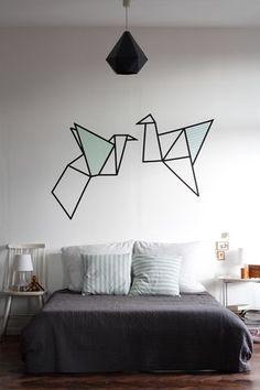 DIY: Wandbild mit Masking Tape // Gewinnerauslosung | craftifair | Bloglovin'