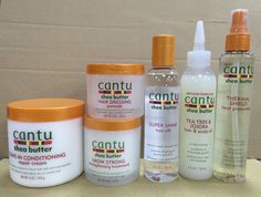 Cantu shea butter products for coarse hair - Hair - Hair Care Best Natural Hair Products, Natural Hair Care Tips, Curly Hair Tips, Curly Hair Care, Curly Hair Styles, Natural Hair Styles, Cantu Shea Butter Products, Cantu Products For 4c Hair, Products For Curly Hair
