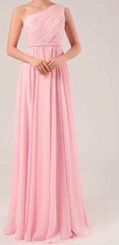 Custom Made Pink Long Bridesmaid Dresses