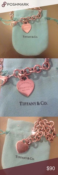 Return to Tiffany Signature Classic Charm Bracelet Gorgeous Tiffany and Co classic charm bracelet with heart tag. Some light wear, original bag included Tiffany & Co. Jewelry Bracelets