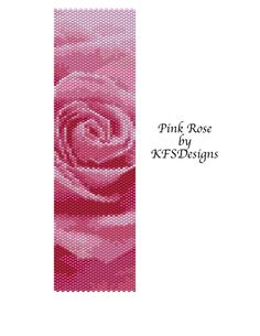 Peyote Bracelet Pattern  Pink Rose Buy 2 Patterns  by KFSDesigns, $6.50